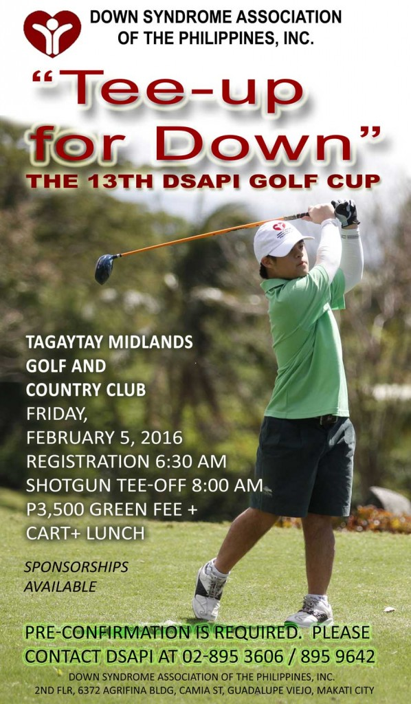 Tee Up For Down! – The 13th DSAPI Golf Cup