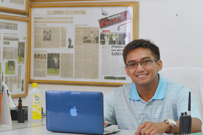 "Newly appointed golf director Judson ""Jude"" Eustaquio"