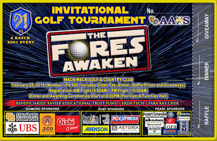 """THE FORES AWAKEN"" XS91 Invitational Golf Tournament"