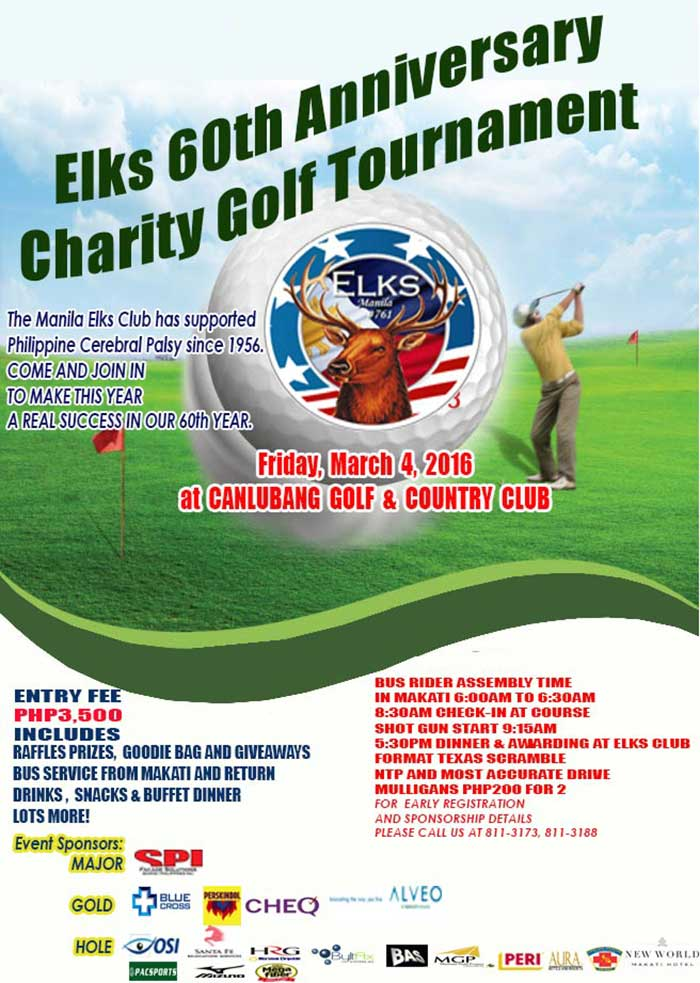 The 13th Annual Manila Elks Presidents Golf Tournament
