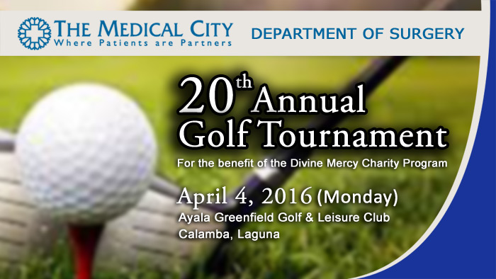 Come Join the Medical City's 20th Annual Golf Tournament