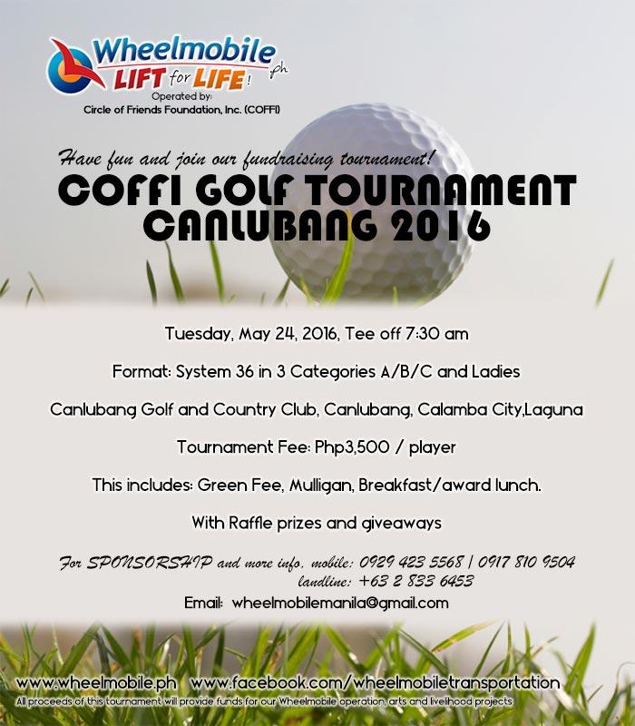 COFFI Golf Tournament Canlubang 2016