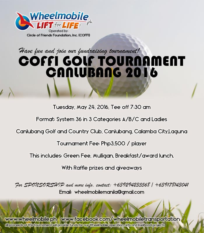 Coffi Golf Tournament Canlubang 2016