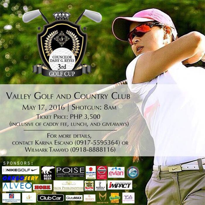 Come Join Us at Councilor Daisy G. Reyes' 3rd Golf Cup