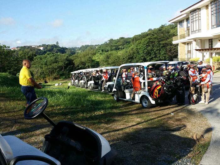 golf carts at anvil cup