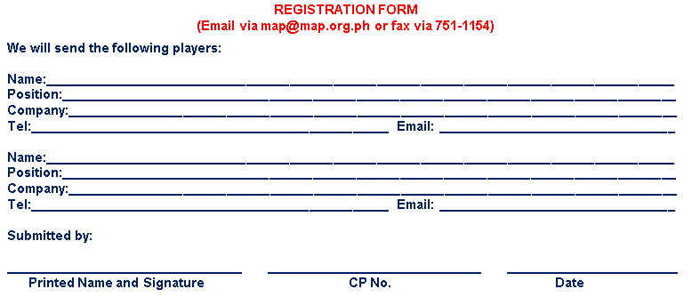 MAP Registration Form