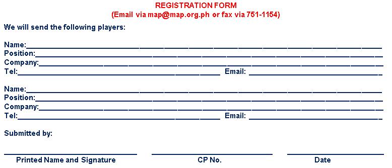 MAP Registration Form