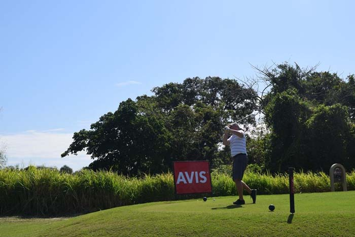 We got to the Hole sponsored Avis hole and were treated to a lovely view