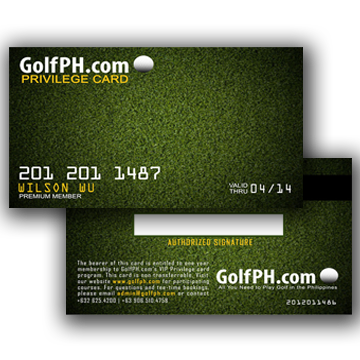 The Premier Philippines Golf Membership Club Card Golfph