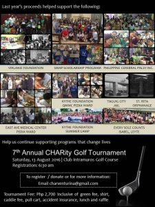 7th CHARity Gol Tournamen Details