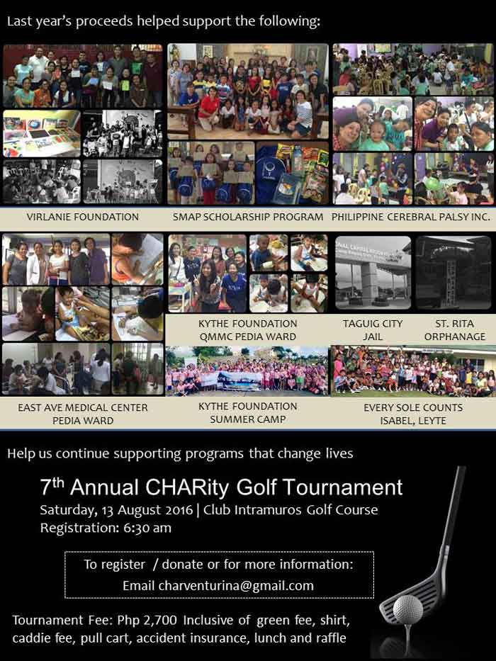 7th CHARity Golf Tournamen Details