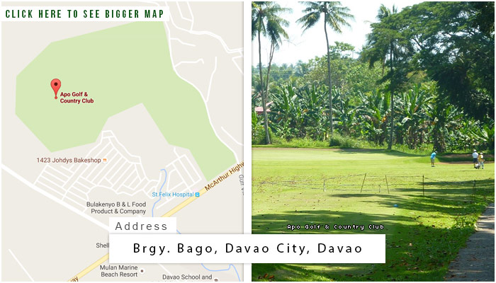Apo Golf and Country Club Location, Map and Address