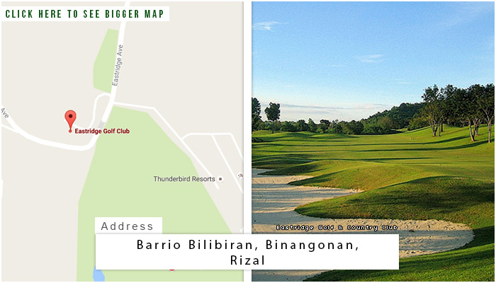 Eastridge Golf and Country Club Location, Map and Address
