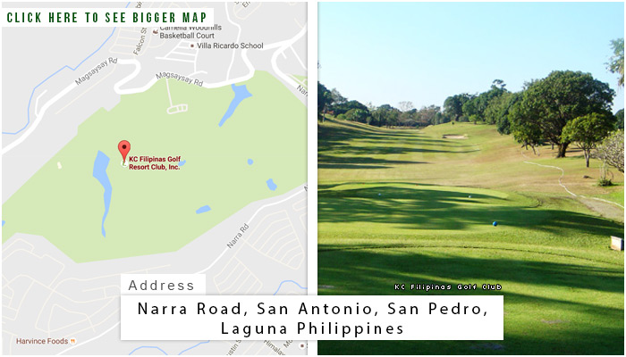 KC Filipinas Golf Club Location, Map and Address