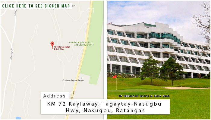 KC Hillcrest Hotel and Golf Club Location, Map and Address