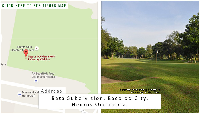Negros Occidental Golf & Country Club, Inc. Location, Map and Address
