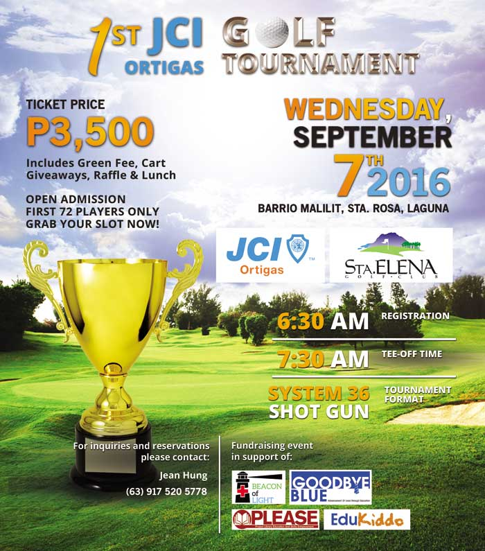 JCI Ortigas Golf Tournament Flyer