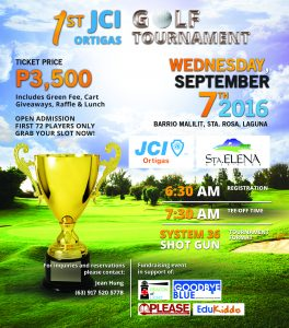 1st JCI Ortigas Golf Tournament