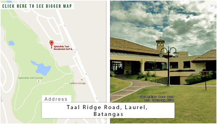 Splendido Taal Golf and Country Club Location, Map and Address