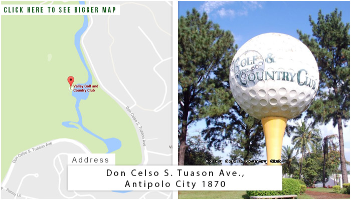 Valley Golf and Country Club Location, Map and Address
