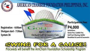 Join the 31st AmCham ChariTee Golf Tournament