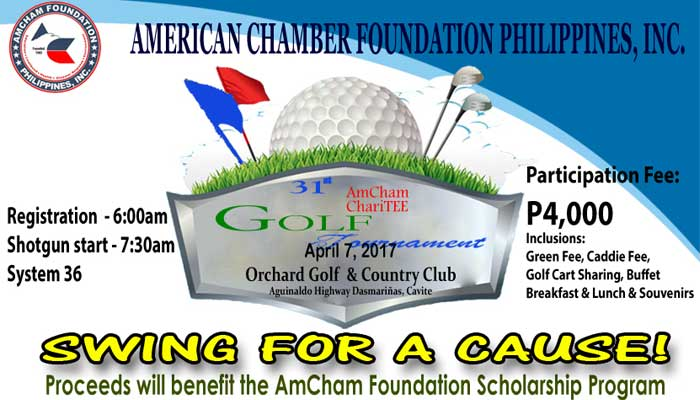 Join the 31st AmCham ChariTee Golf Tournament