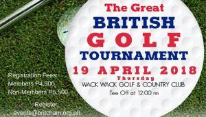 British Chamber to host the 6th GREAT British Golf Tournament