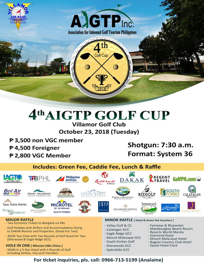 Come Join the 4th AIGTP Golf Cup!